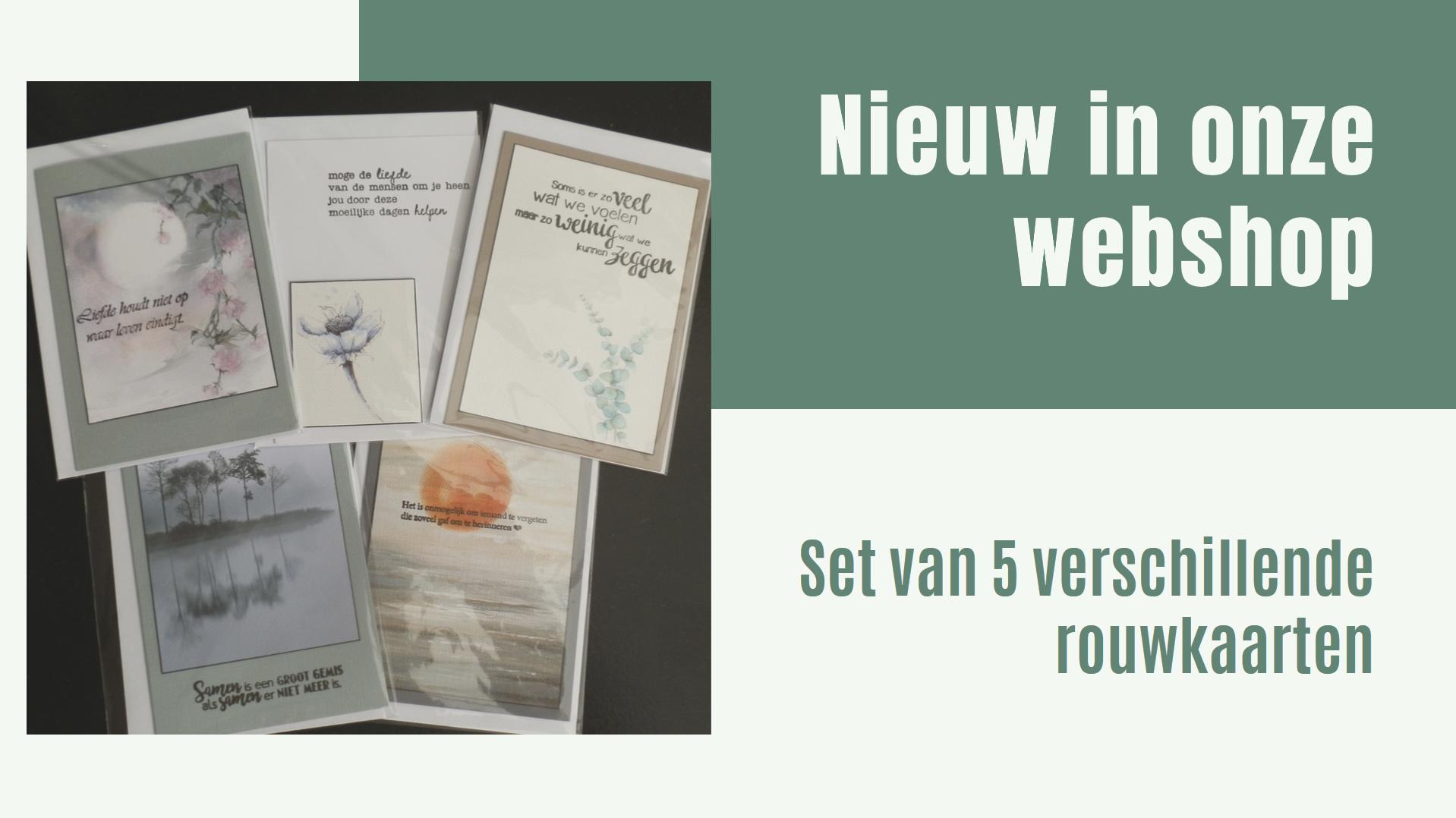 Nieuw in onze webshop - set rouwkaarten